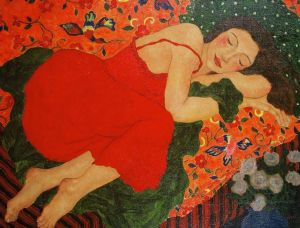 Another painting by Gustav Klimt which is called ' The Dream' 4/11/15