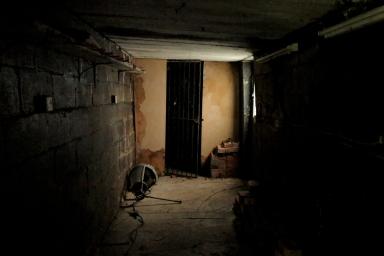 Inside Friends shed